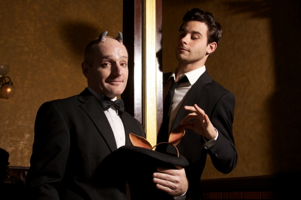 Matt Foster and Sean Hudock in Titan Theatre's MIDSUMMER. Photo by Lloyd Mulvey