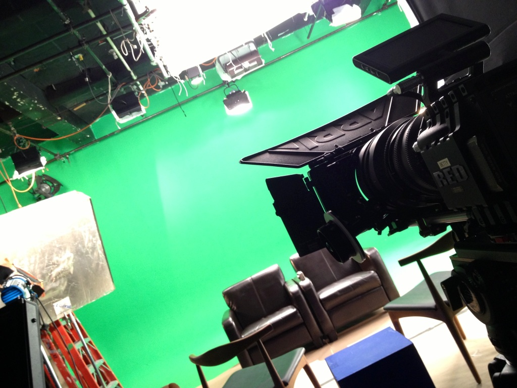 """On the set of ENGLISH, a new short drama from the creators of """"THE DRUNK TALK SHOW,"""" Brett Sciezka and James Blood."""