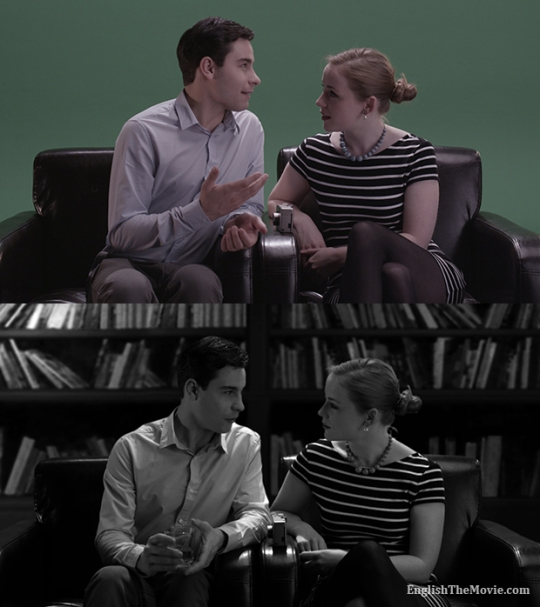 Before and After Post Production on ENGLISH. Cinematography by Eric Laplante, illustrations by Jim Campbell.