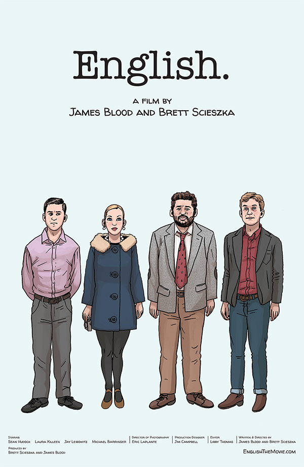 Official 'ENGLISH' Poster. Illustrations by Jim Campbell.
