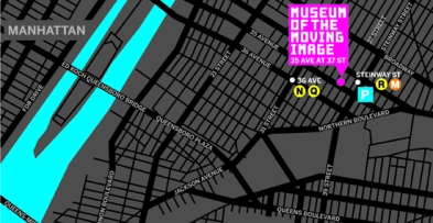 Museum of the Moving Image map