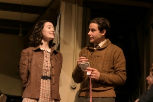 Emme Nadeau and Sean HUdock in THE DIARK OF ANNE FRANK at The Shakespeare Theatre of NJ. Photo by Jerry Dalia