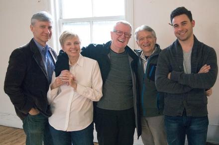 David Garrison, Ellen Foley, Michael Menzies, Charles Abbott, Sean Hudock. Photo by Lloyd Mulvey