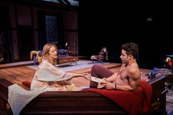 Monette Magrath (Olivia) & Sean Hudock (Ethan) in Sex With Strangers by Laura Eason. Photo by Roger Mastrioni, Cleveland Play House